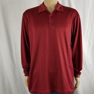 Nike Golf Long Sleeve polo burgundy size large